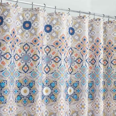 mdesign clover medallion fabric shower