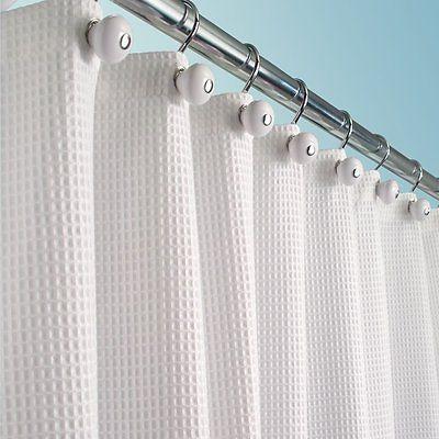 "mDesign Cotton Luxury Fabric Curtain 72"" 72"", White"