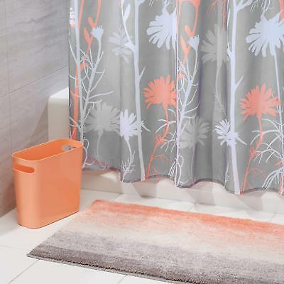 mdesign floral fabric shower curtain