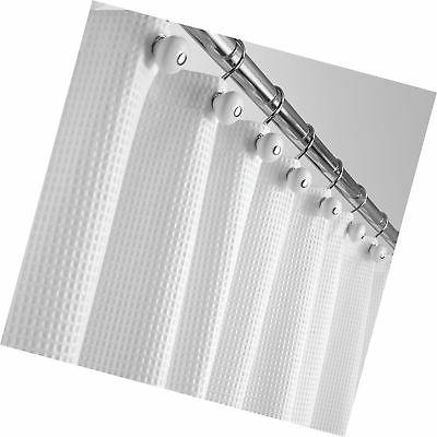 """mDesign Extra Blend Curtain, Rustproof Metal Waffle for Bathroom Showers 72"""" 96"""" White"""