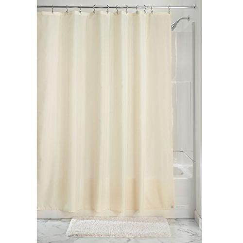 "mDesign Water Mildew Resistant, Duty Weave Fabric Liner - Bottom Hem Bathroom Shower x 72"" -"