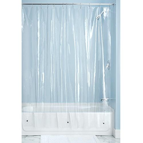 mDesign 2 Pack - Long Resistant, Quality Vinyl Curtain Shower Stall Bathtub - -