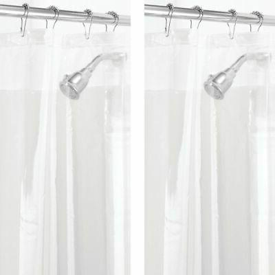 mDesign PEVA 3G Shower Curtain Liner , MOLD  MILDEW Resistan