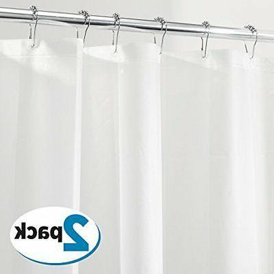 mDesign PEVA 3G Shower Curtain Liner , Eco Friendly, MOLD &