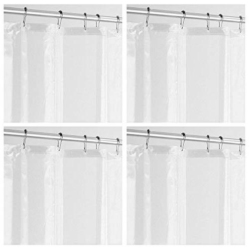 mDesign - 4 Pack - Long Waterproof, Mold/Mildew Resistant, H