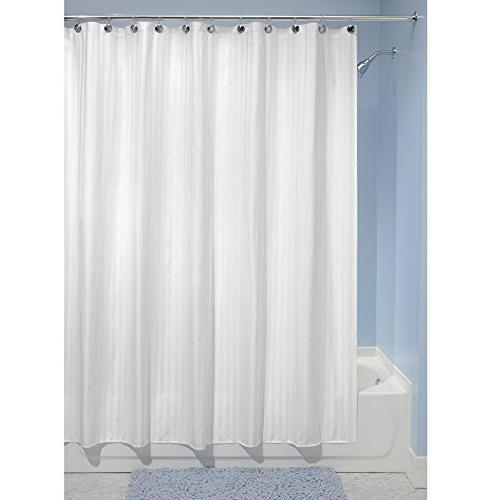 "mDesign Shower Curtain Liner Long 72"" x White"