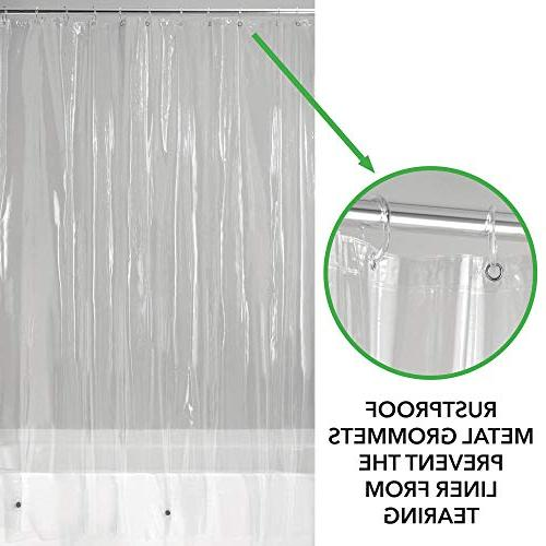 """mDesign - Pack - Resistant, Quality Curtain Liner Bathroom Shower Stall and - 72"""" x -"""
