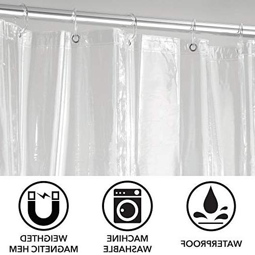 mDesign - - Waterproof, Mold/Mildew Resistant, Heavy Duty Quality Curtain for - -