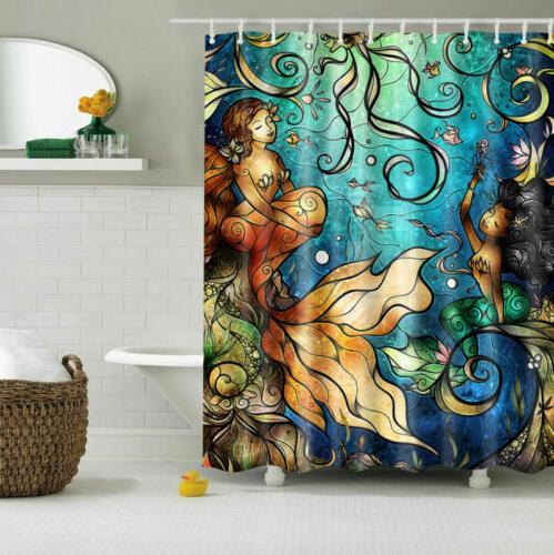Mermaid Shower Curtain Tale Fish