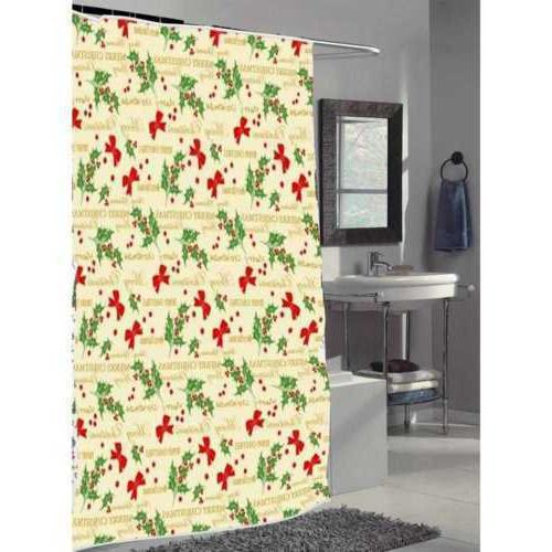 Merry Curtain, Novelty, Polyester, Multi-Colored, Shower