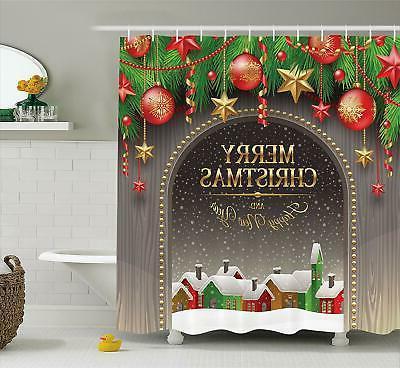 merry christmas shower curtain 70 long x