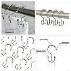 MAYTEX Metal Double Roller Glide Shower Curtain Ring/Hooks,