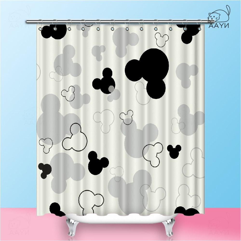 NYAA Mickey <font><b>Shower</b></font> <font><b>Curtains</b></font> Waterproof Polyester <font><b>Fabric</b></font> <font><b>Curtains</b></font> Home Decor