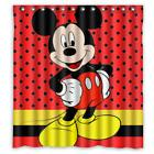 Mickey Mouse Dots Bathroom Waterproof Shower Curtain 66 x 72