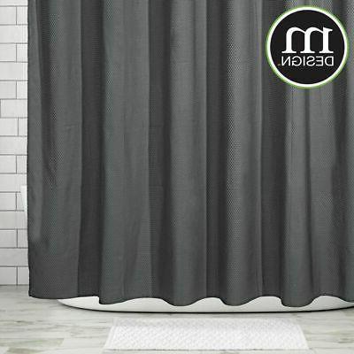 mDesign Fabric Curtain, x Charcoal