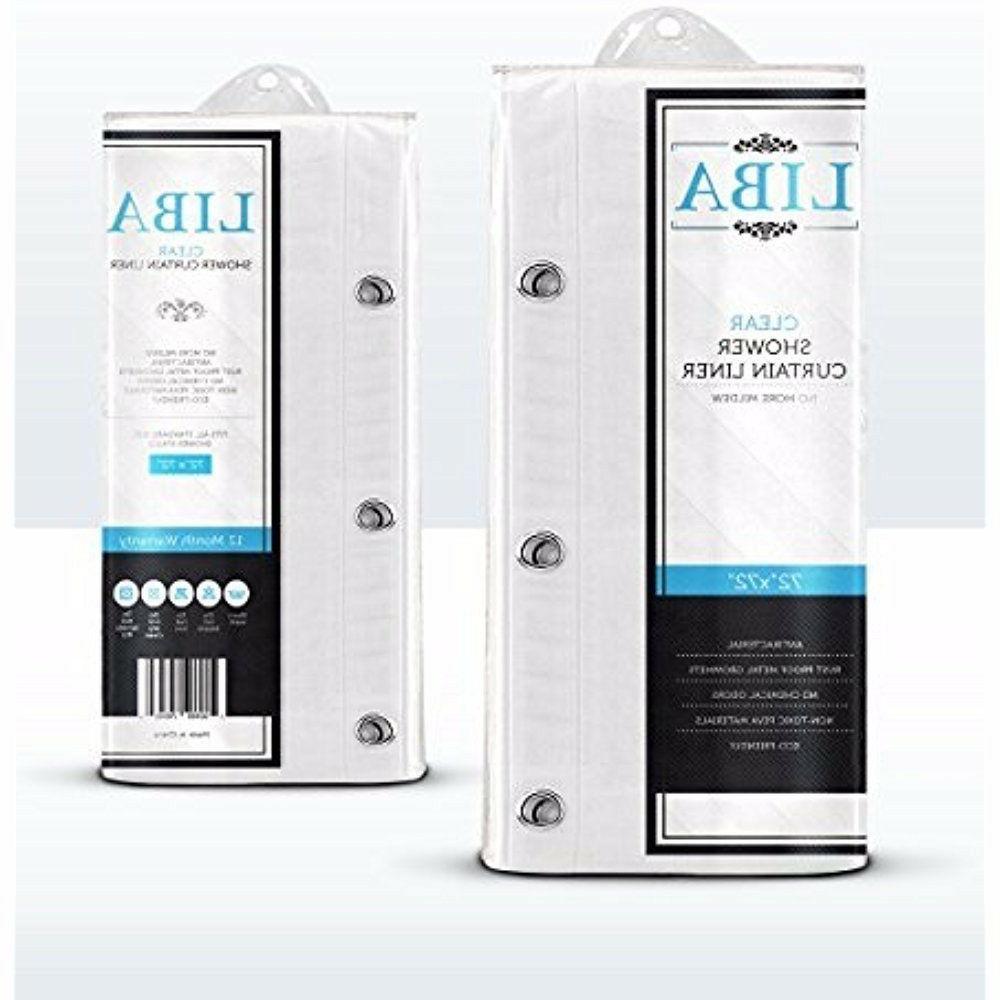 LiBa Mildew Resistant Anti-Bacterial PEVA 8G Liner, 72x72 Clear