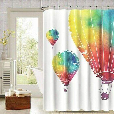 mildew resistant colorful polyester fabric shower curtain