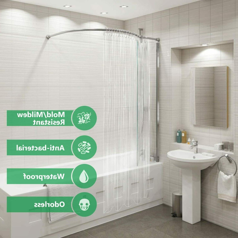Mildew Resistant Heavyweight Shower Curtain Liner Metal