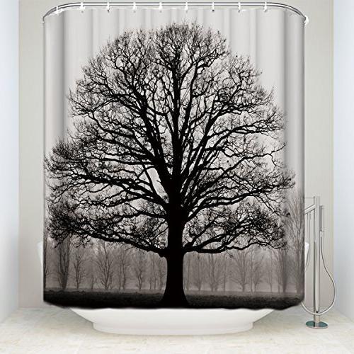 mildew resistant shower curtain tree