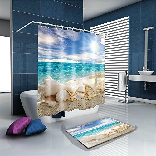 mold resistant starfish seashell shower