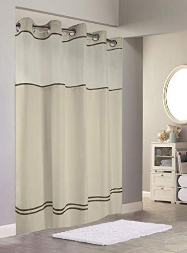 Hookless Monterey Shower In With Stripe IN X 77