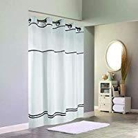 Hookless Monterey Hotel Quality Shower Curtain with Snap in