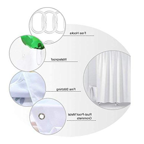 KOTOM Curtain, Insect Colorful Backdrop of Mildew Decor, Bath Curtains Accessories with Hooks,