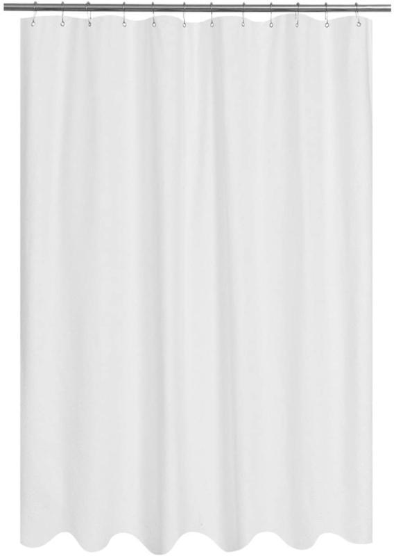 embossed microfiber fabric long shower curtain liner