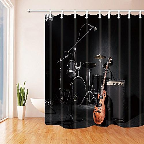 music shower curtains
