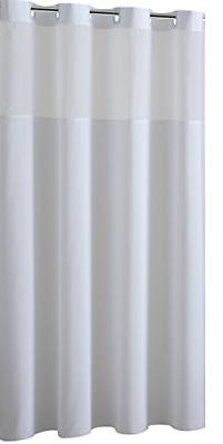 Mystery EZ-On RBH40MY223 Sheer Fabric Shower Curtain with Li