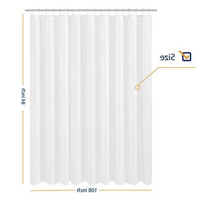 N&Y HOME Extra Wide Extra Long Fabric Shower Curtain Liner 1