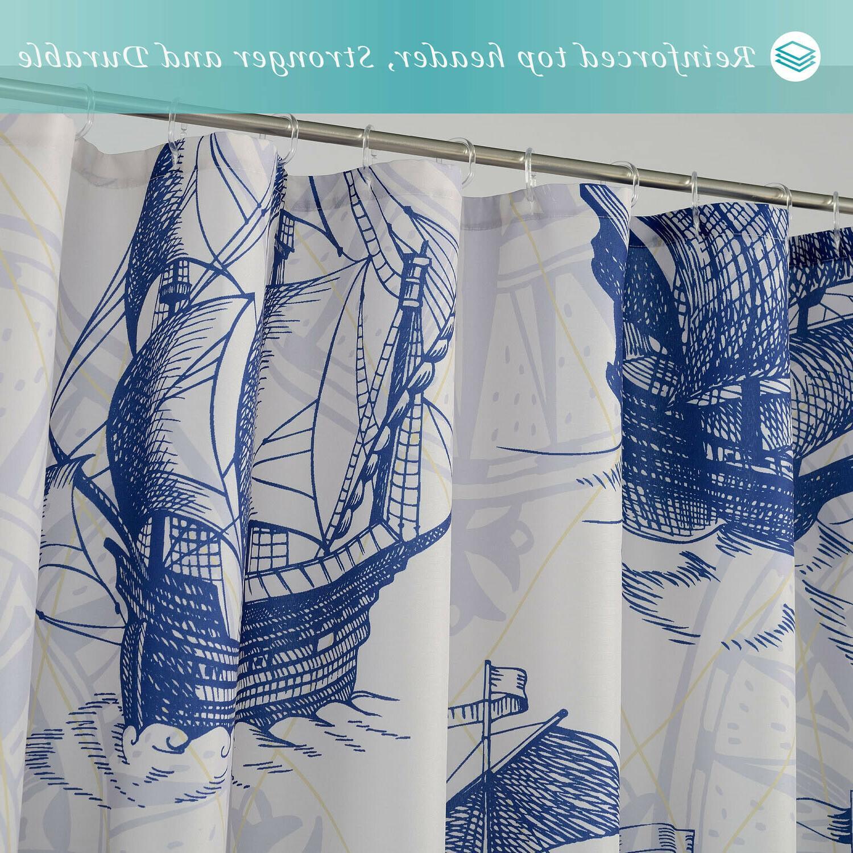 Nautical Curtain - Fabric, Washable, Resistant