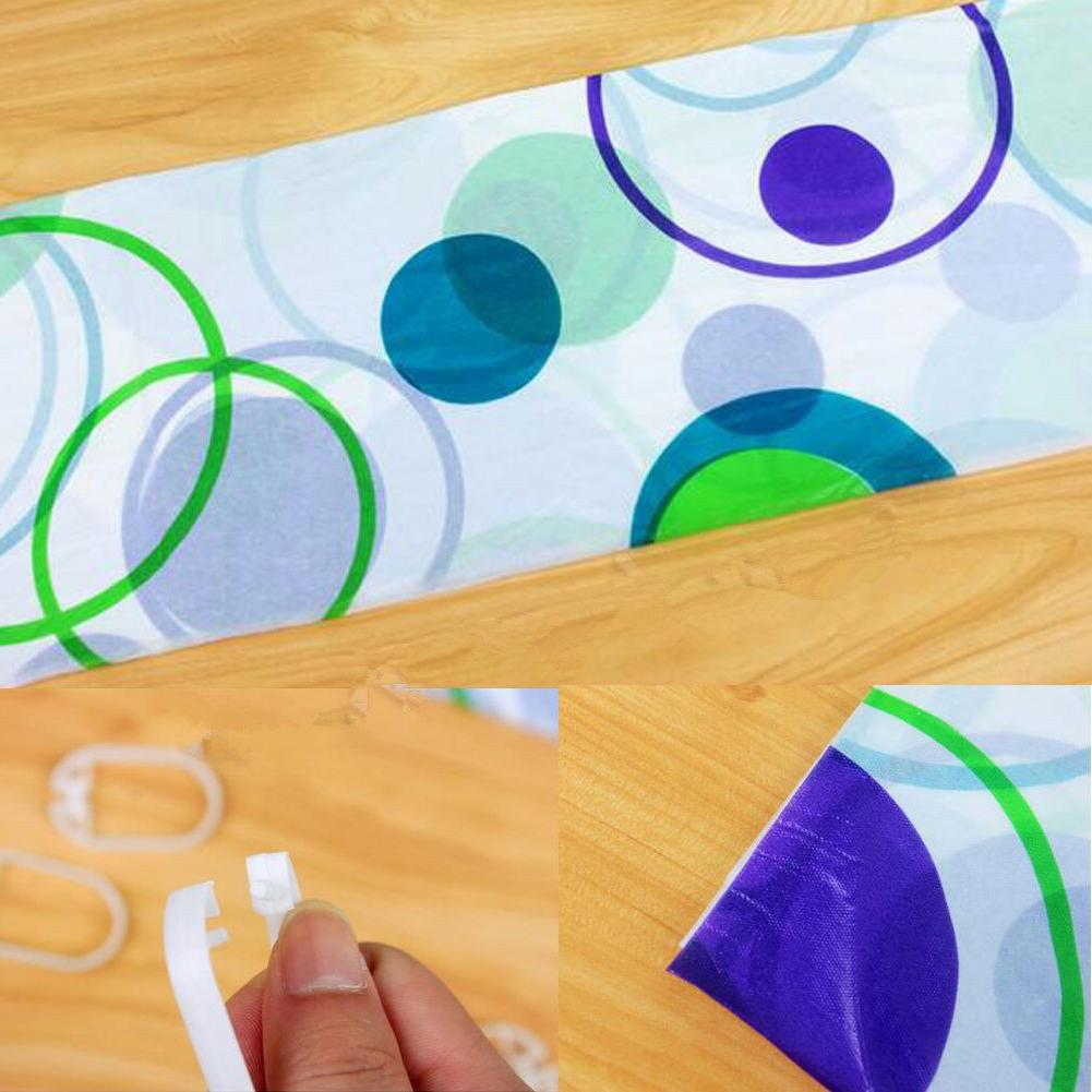 New Bathroom Cutain Waterproof Polyester <font><b>Fabric</b></font> Proof 12 Quality