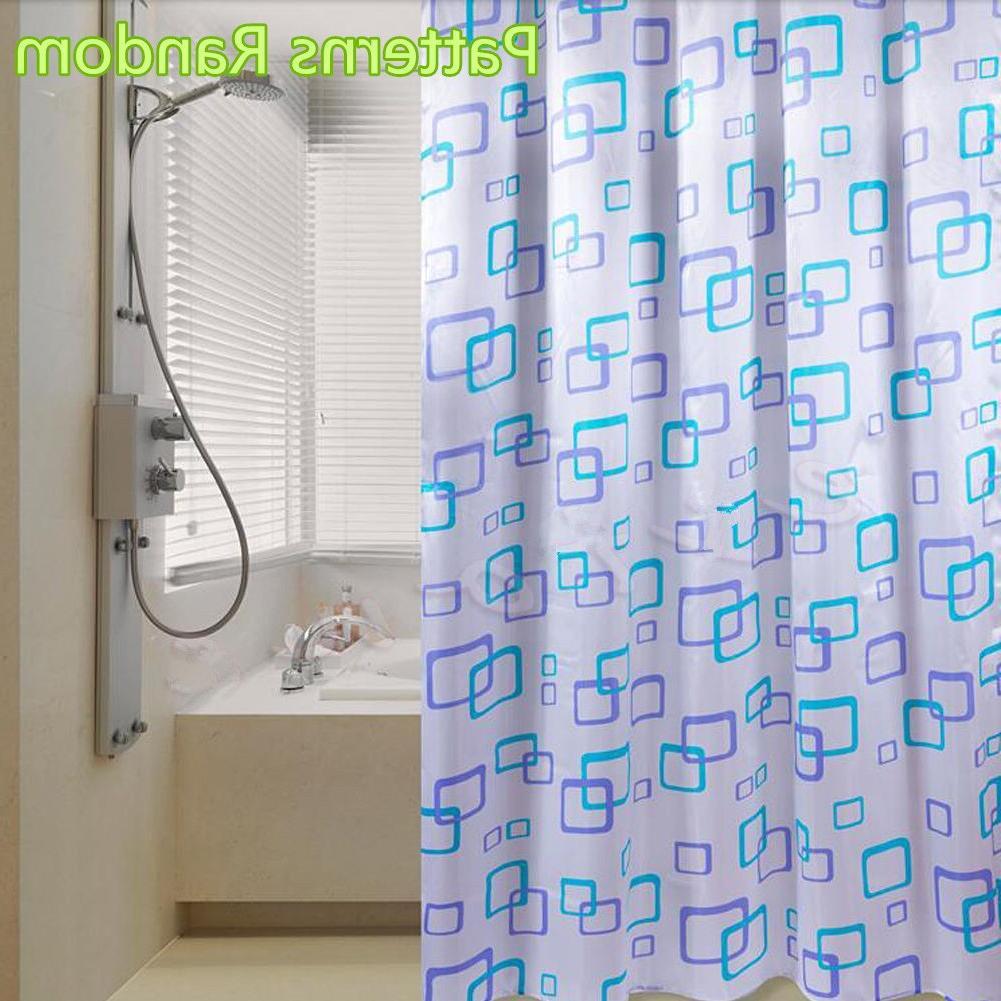 New Bathroom Bath Cutain Accessiories Waterproof <font><b>Fabric</b></font> Proof 12 Hooks Quality