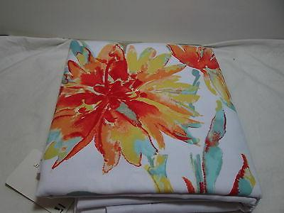 New Floral Fabric Shower Curtain 72x72 Multi
