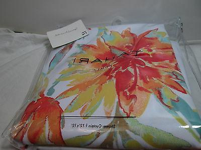 new martina floral fabric shower curtain 72x72
