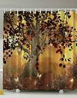 NEW Old Twisted Tree Print Shower Curtain Polyester Washable