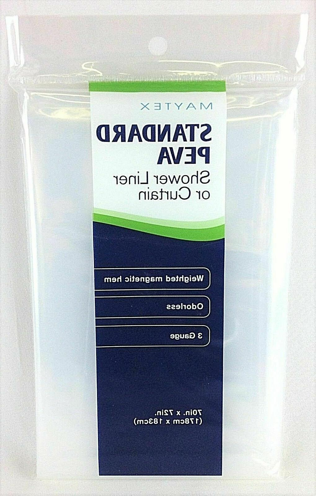 NEW Maytex Opaque Shower Curtain Liner Odorless and Weighted