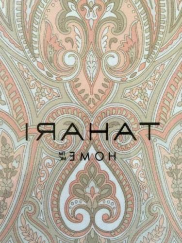 Tahari Rosman Shower Curtain Cotton Peach Orange Tan Beige S
