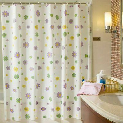 Shell Pattern Shower Curtain PEVA Curtain Bathroom Flower 12