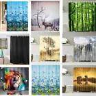 New Waterproof Bathroom Shower Curtain Sheer Panel Decor Wit