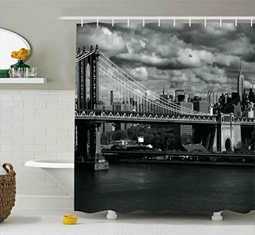 newyork shower curtain panorama