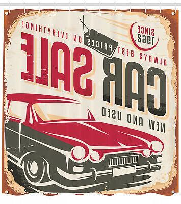 nostalgic car sale sign american style urban
