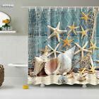 Ocean Beach Starfish Shower Curtain Polyester Waterproof Fab