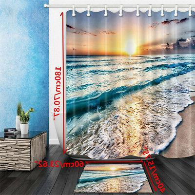 Ocean Waterproof Bathroom Mat Set Decor