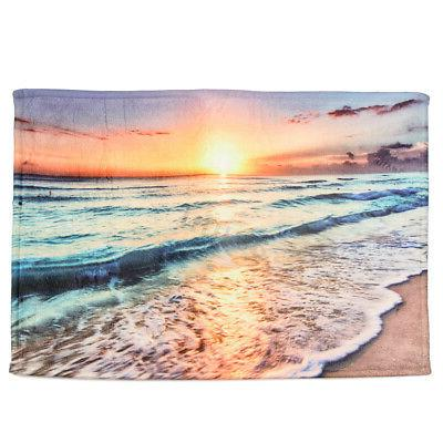 Ocean Beach Polyester Waterproof Mat Set