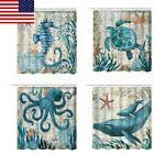 Ocean Theme Sea Turtle Seahorse Waterproof Shower Curtains B