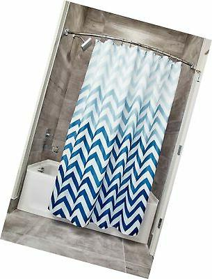 ombre chevron shower curtain