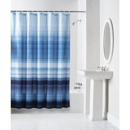 ombre stripe fabric shower curtain