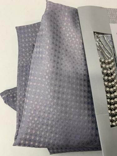 Creative Ombre Textured Shower Curtain Beaded Rings 70x72